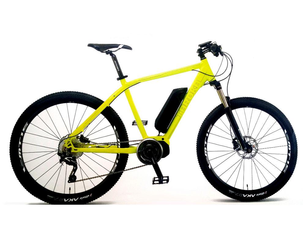 bici-elettrica-gialla