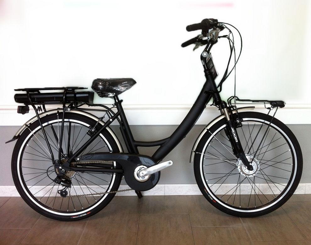 bici-elettrica-nera